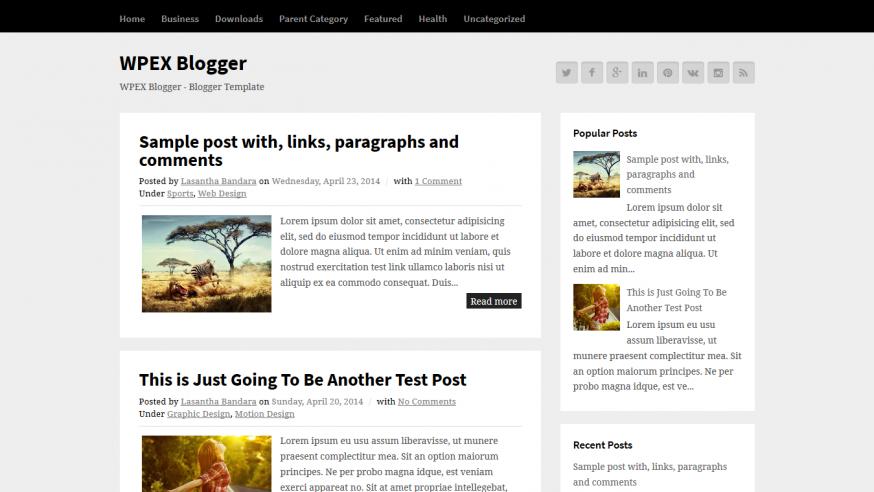 WPEX Blogger
